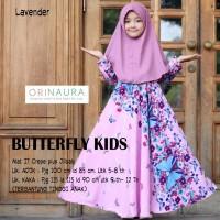 gamis kids buat kaka +jilbab /dres anak buterfly ori naura