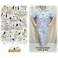 Piyama / Pajamas Cp Snoopy Sleep Biru