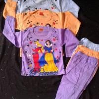 baju setelan tidur anak perempuan gambar princess size 2 sd 3 tahun