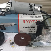 "MESIN GERINDA TANGAN RYOTA 9500N 4"" ANGLE GRINDER RYOTA"