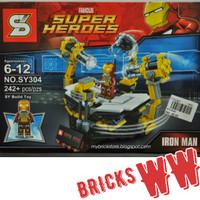 IRONMAN LAB Gantry Tony Stark Avengers Super Heroes Lego