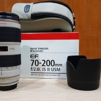 Jual BEKAS Lensa Canon EF 70-200mm f/2.8L IS II USM + Marumi 77mm UV Filter Murah