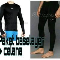 Jual Paket celana baselayer manset nike adidas renang diving gym legging Murah