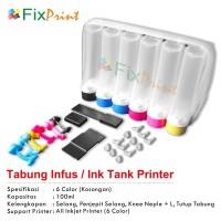 Ink Tank Modif 6 Warna 100ml Tabung Infus 6 Warna 100ml Model Sepatu