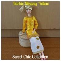Boneka Barbie Pivotal Baju Adat Sumatra Barat (Minangkabau) 1 Yellow