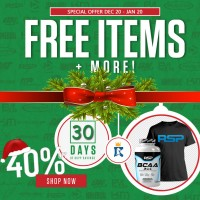 RSP BCAA 200 caps FREE Whey / BCAA / Creatine / Gainer / dll