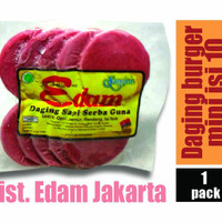 Jual Daging Burger Mini Edam isi 10 Murah