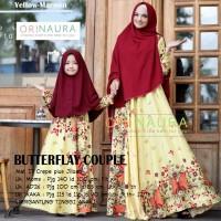 Jual Setelan Gamis Syari Couple Ibu Anak Baju Muslim Modern BUTTERFLY Murah