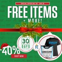 RSP Creatine 500gr FREE T-Shirt + Whey / BCAA / Creatine / Gainer /dll