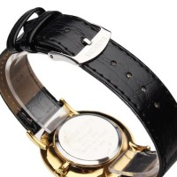 New Baishuns Leather Band Quartz Watch Ori