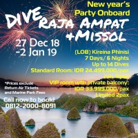 LOB Divetrip to Raja Ampat & Missol 27 Dec '18 - 2 Jan '19