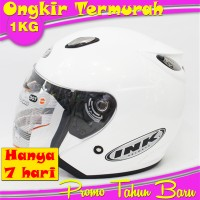 White/Putih Helm Basic INK Centro Grade ORI Bkn KYT,Bogo,Anak,BMC,VOG