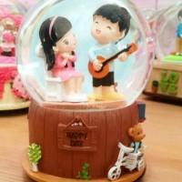 Jual KOTAK MUSIK Water Ball Love Music pajangan ,Ukuran Jumbo,n Bs berputar Murah