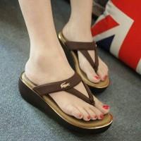 Sepatu wedges wanita/cewe WEDGES CROCODILE COKLAT rs/sepatu terbaru