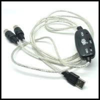 GRATIS ONGKIR! 5-PIN USB MIDI CABLE CONVERTER PC TO MUS Berkualitas