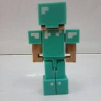 SPECIAL DISKON Action Figure minecraft Steve with Diamond Armor mojang
