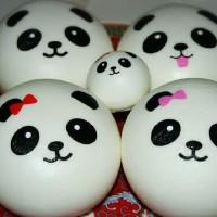 Squishy JUMBO panda bun  white colour soft empuk slow