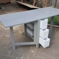 Meja Lipat Premium Fiberboard dan Kayu Solid Cat Duco