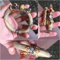 gelang Uli (akar Bahar) motif naga Bali silver gold pleted