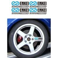 Promo Sticker Velg Mobil Enkei Wrc Tarmac Evo Limited Forged