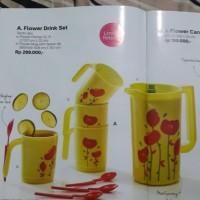 (Murah) Flower Drink Set Tupperware