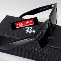 Kacamata Rayban Ray-Ban Wayfarer RB2140 Black Glossy (Glass / Kaca)