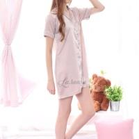 Satin Sleepshirt Piyama Nude / Baju tidur satin sutra wanita dewasa