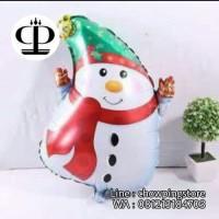(Murah) Balon Foil Snowman Merry Christmas / Balon Natal Manusia Salju
