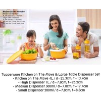 Tupperware Kitchen on The Move & Large Table Dispenser Set (Activity)