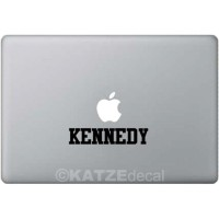 Decal Sticker Macbook - Custom Name (Font: Scholar)