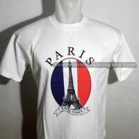 Souvenir Mancanegara Kaos Paris Bendera Souvenirs Perancis
