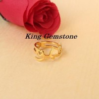 Cincin Nama Arab Lapis Emas Elegan - Perhiasan Nama