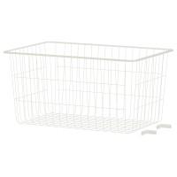 IKEA ALGOT Keranjang Kawat Putih Ukuran 38x60x29 cm