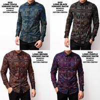 Kemeja Batik Songket Pria Panjang Kerja Kantor Slimfit / Baju Batik