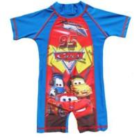 Cars Blue Swimsuit / Baju Renang Diving Cars Anak Laki  Import