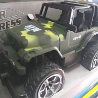 RC Jeep Off Road Strong Power Army 4x4 Baterai Cas