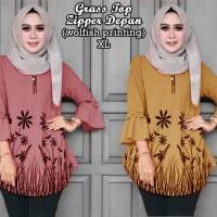 58408 Grass Top/baju Tunik Murah/atasan Muslim Wanita/baju Murah