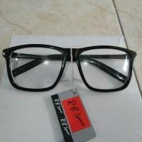 promo kacamata fashion persegi hitam besar kacamata korea kutu buku