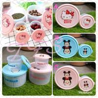 Set Toples / Wadah Snack / Permen / Kue Plastik Hello Kitty, Tsum Tsum