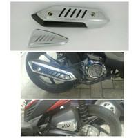 Cover Knalpot Motor Honda Beat PGM F1 Croom Gold