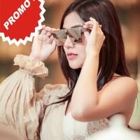 SUPER BEST SELLER kacamata bvlgari big box kc 77 silver