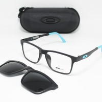 Frame Kacamata Minus Oakley Clip On 8008 Pria Hitam