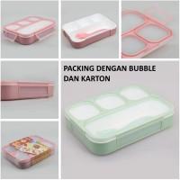 Yooyee Kotak Makan Grid Bento Lunch Box 4 Sekat Anti Bocor (FP000578)