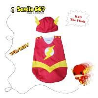 Baju Bayi Jumper Karakter Stelan Kostum Topi Lucu Superhero Flash
