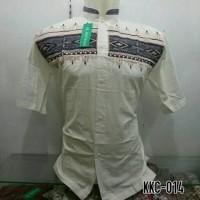 PBK - Baju Pria Dewasa Kemeja Koko Baju Koko Lengan Pendek Putih KKC 0