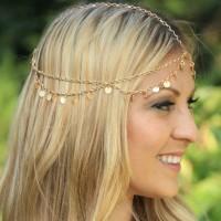 Headchain Headband hairpiece Hiasan rambut kepala mahkota flower crown