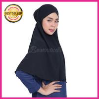 Kerudung Hijab Jilbab Instan Simple Syari Khimar Wolfis Wolvis Size L