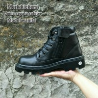 sepatu kickers safety ujung besi sepatu wanita sepatu boots dinas
