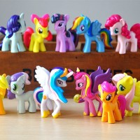 Jual My Little Pony 1 set isi 12 pcs / Hiasan Kue My Little Pony isi 12 pcs Murah