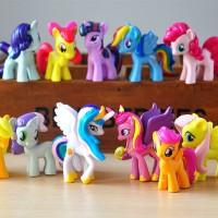My Little Pony 1 set isi 12 pcs / Hiasan Kue My Little Pony isi 12 pcs